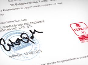Şirketimiz ISO 9001:2008 Kalite Standartlarında Hizmet Vermektedir